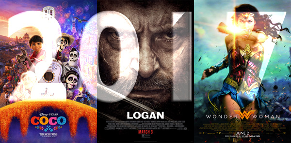 Favourite and Disappointing Films in2017